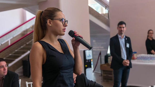 This undated image from video provided by TV Ruse shows journalist Viktoria Marinova in Bulgaria. On Tuesday, officials announced an arrest had been made in connection with her death on Saturday.