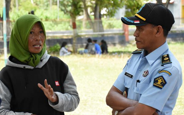"Inmate Lili Setioningsih, 37, was convicted of theft, for stealing money from the school where she taught and served as treasurer.  She says it's ""all up to the prison warden"" whether she can alleviate the trauma of losing her home in the quake and having her children moved four hours further away. He has agreed to transfer her to a prison near her children to serve out the rest of her sentence."