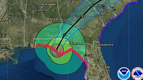 After making landfall around 1:45 p.m. ET Wednesday, Hurricane Michael is expected to plow through Florida and Georgia on its way to the Mid-Atlantic coast.