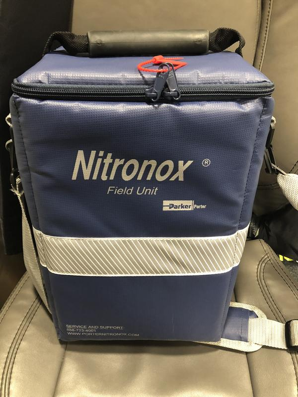 Nitrous Oxide is now portable and easy for paramedics to use in the field.