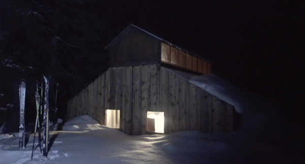 <p>The rustic huts offer a warm respite on a cold winter night.</p>