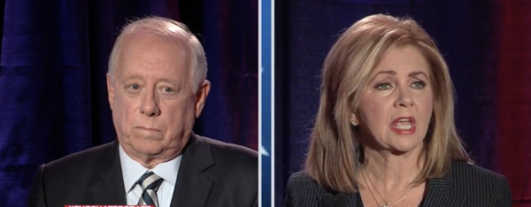 From the start of the debate, Republican Marsha Blackburn hammered away with her latest campaign point: that, as governor, Bredesen covered up sexual harassment allegations against an aide.