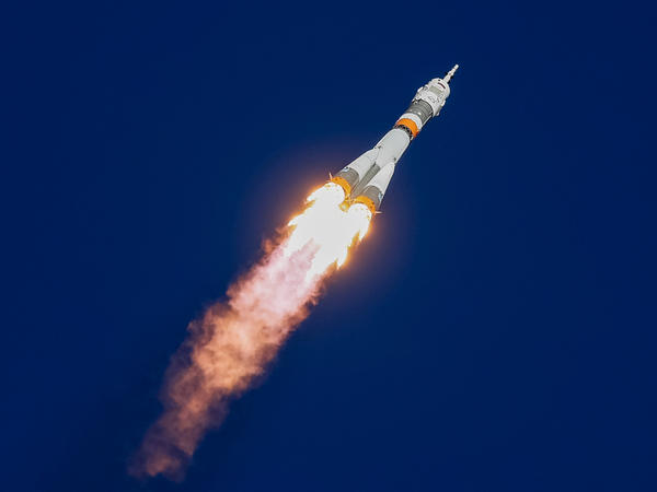 The Soyuz MS-10 spacecraft carrying astronaut Nick Hague of the U.S. and cosmonaut Alexey Ovchinin of Russia blasted off from the launchpad at the Baikonur Cosmodrome, Kazakhstan, Thursday — before the mission was aborted.
