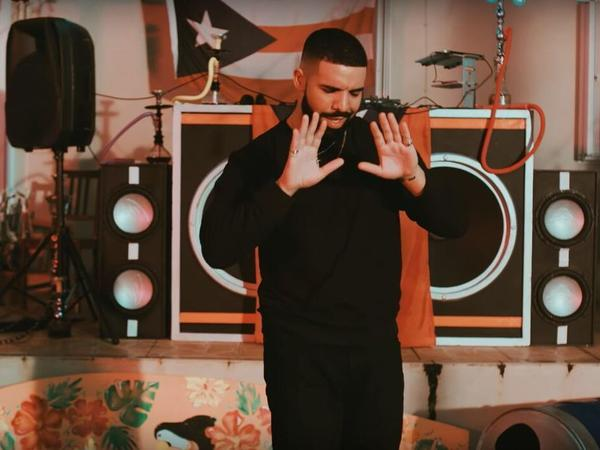 "A new track from Bad Bunny, ""Mia"" features Drake rapping in Spanish."