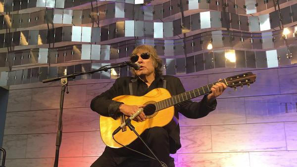 "Grammy Award-winning artist Jose Feliciano performs the ""Star-Spangled Banner"" at the Smithsonian' National Museum of American History."