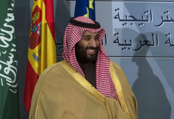 Saudi Arabia's Crown Prince Mohammed bin Salman is shown during a visit to Spain in April. At 33, Mohammed is the kingdom's de facto ruler, and he faces increasing criticism for his handling of issues ranging from the Saudi role in Yemen's war to the recent disappearance of a Saudi journalist in Turkey.