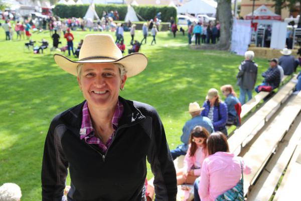<p>Democratic candidate Jamie McLeod Skinner had a slew of events in Pendleton during the Roundup. She says she's been traveling more than a year, treating the campaign for OR-02 like 20 county-wide races, instead of one congressional district.</p>