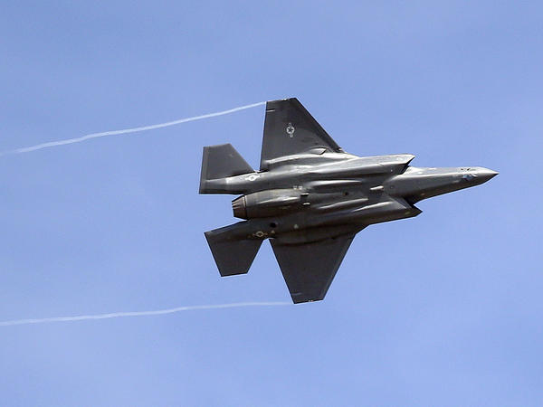 An F-35 jet arrives at its new operational base at Hill Air Force Base, in northern Utah, in 2015. The aircraft have been temporarily grounded for inspections after one crashed in South Carolina last month.