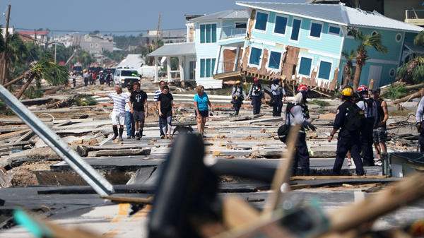 """This is a war zone,"" one Mexico Beach resident said of the damage left in the aftermath of Hurricane Michael."