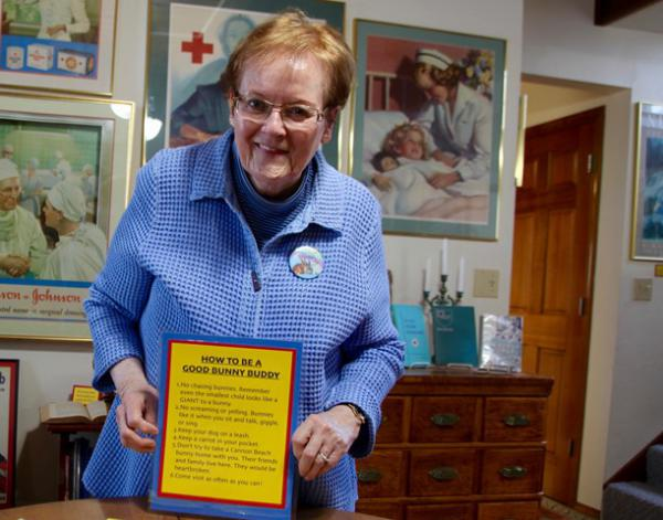 <p>Melodie Chenevert thinks the bunnies attract more Cannon Beach tourists. She'd like to see an Easter Festival with bunny hop dances and carrot cakes.</p>