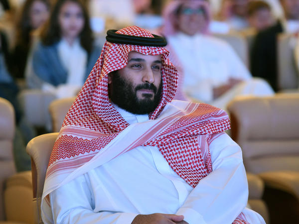 Saudi Crown Prince Mohammed bin Salman, seen at last year's Future Investment Initiative conference in Riyadh. This year, several major business figures and organizations have already dropped out of the conference in protest of Saudi journalist Jamal Khashoggi's disappearance.