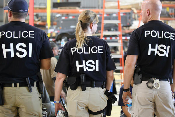 U.S. Immigration and Customs Enforcement's Homeland Security Investigations agents arrested more than 150 workers at a trailer-manufacturing business in North Texas.