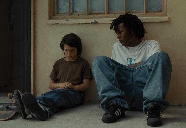 In Jonah Hill's directing debut <em>Mid90s</em>, Stevie (Sunny Suljic, left) and Ray (Na-kel Smith) come of age among an LA skateboarding crew.