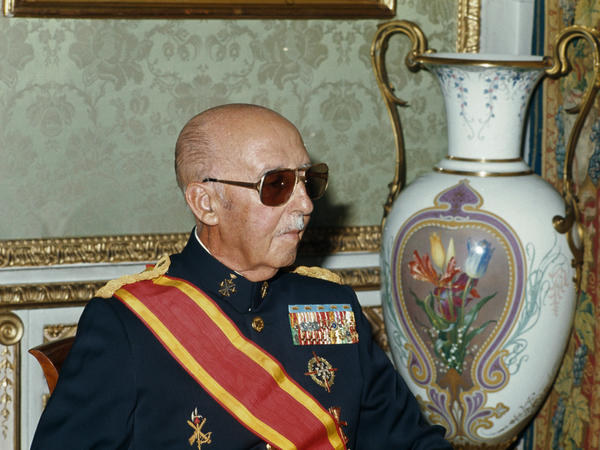 The dictator Gen. Francisco Franco, shown here in 1975, the year he died, ruled Spain for 36 years.