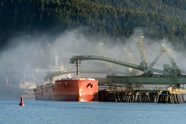 A coal export terminal near Prince Rupert, British Columbia.
