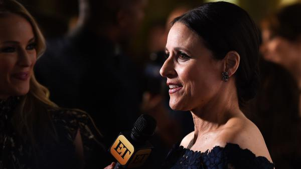 Julia Louis-Dreyfus speaks with reporters on the red carpet for the Mark Twain Prize for American Humor ceremony, held at the Kennedy Center in Washington, D.C.