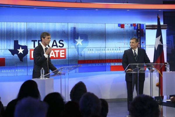 The second Cruz-O'Rourke debate in San Antonio on Oct. 16.