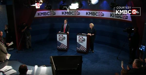 Sen. Claire McCaskill and Josh Hawley take part in their final debate before the Nov. 6 election.