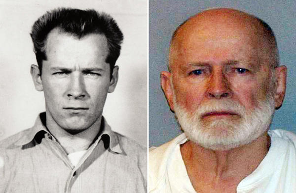 "James ""Whitey"" Bulger is seen in two booking photos, decades apart -- 1959 and after his capture in 2011. The convicted mobster and murderer has died in prison. (U.S. Marshals Service)"