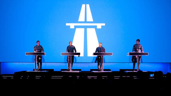Ralf Hutter (left) and the other members of Kraftwerk in performance at the Museum of Modern Art in New York on Tuesday.