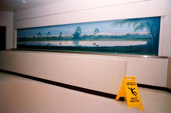 Examples of Al Black's prison murals from the book <em>The Highwaymen Murals: Al Black's Concrete Dreams, University Press of Florida,</em> 2009