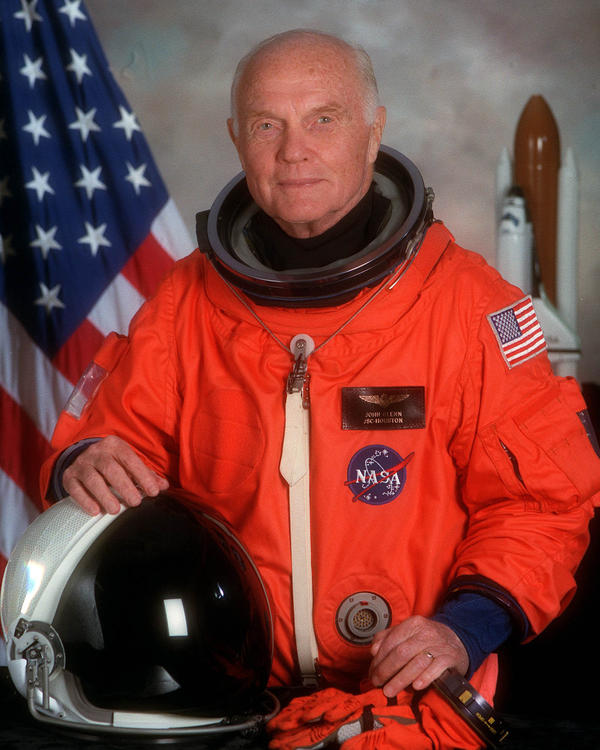 Portrait Of U.S. Sen. John H. Glenn Jr. in 1998, when he served as Payload Specialist For Space Shuttle Sts-95.