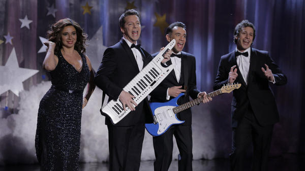 <em>The Maya Rudolph Show</em> premiered Monday night with guest appearances from Sean Hayes, Fred Armisen and Andy Samberg.