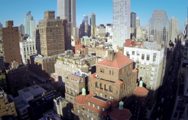 Randy Scott Slavin's aerial video of New York City, shot with a drone, inspired him to start the New York City Drone Film Festival. (Screenshot from Vimeo)