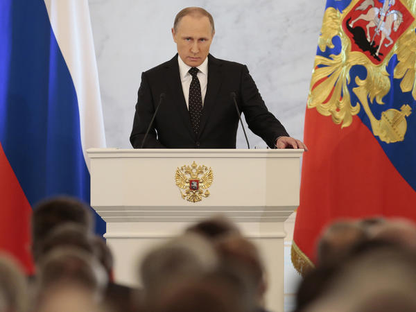 When Russia began its bombing campaign in Syria, Russian officials said it would be a short-term air operation. Since then, things have gotten messier. In his state of the nation speech Thursday, President Putin reminded Russians that it took nearly a decade to crush terrorists who staged attacks around Russia in the 1990s. He cast the fight in Syria in similar terms.