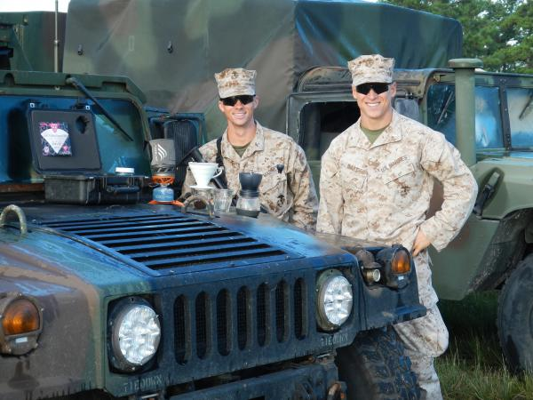 Harrison Suarez and Michael Haft met as Marines serving in Afghanistan. After their tour of duty, the two friends came back home and opened Compass Coffee in Washington, D.C.