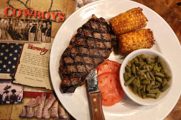 """About 20 percent of Seminole beef winds up in the tribe's own boutique line, called """"Seminole Pride"""" beef. It's on offer in about 200 Florida restaurants, including Cowboys BBQ & Steak Co. in Okeechobee."""