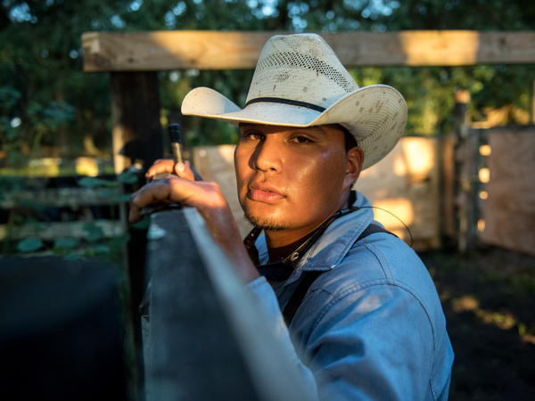 """Andre """"Dre"""" Jumper, 20, of the Big Cypress Reservation is Moses Jumper's grandson. He loves being a cowboy."""