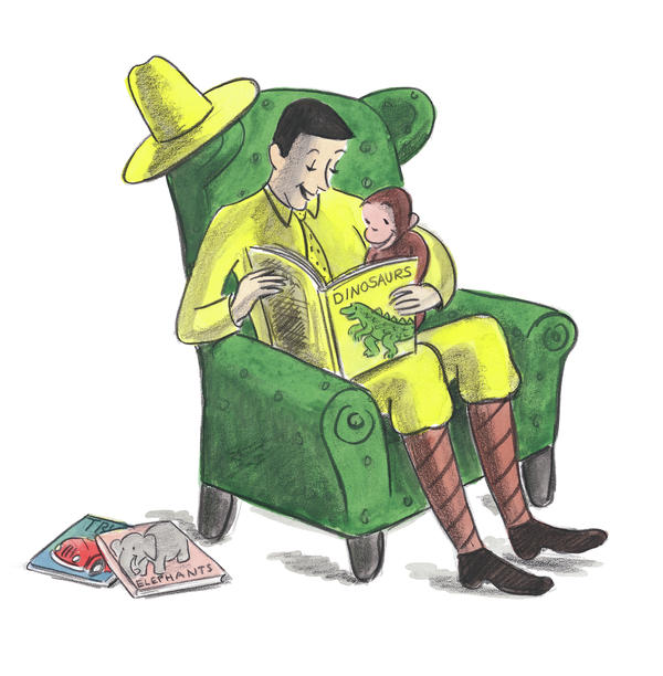 """Aspects of Curious George's story are no doubt problematic — George was taken from his home """"in Africa"""" by the Man with the Yellow Hat, who thought to himself, """"What a nice little monkey ... I would like to take him home with me."""""""