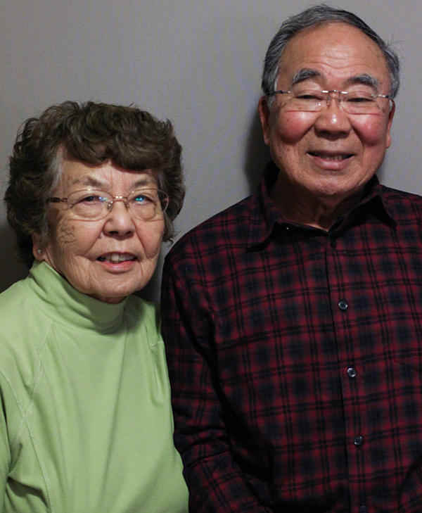 Roy Ebihara and his wife, Aiko, at StoryCorps in Oberlin, Ohio. Both were in Japanese internment camps in the 1940s.
