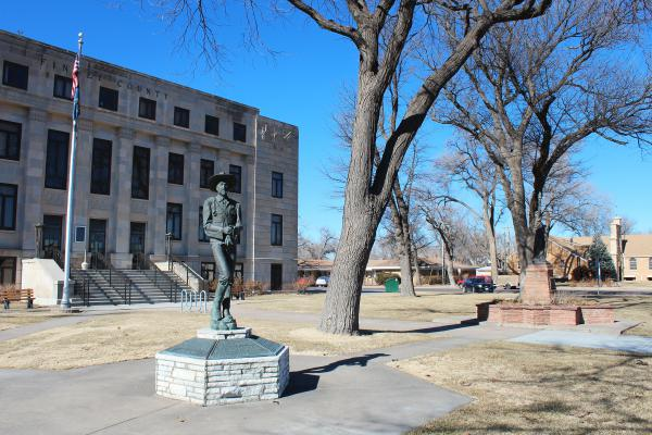 The Finney County Courthouse is located in Garden City, Kan. The thriving, rural town has attracted people from across the globe to resettle there.