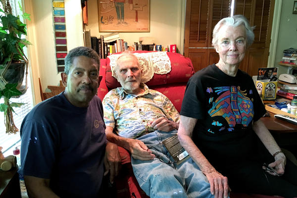 Leon Watts (left) with Lee and Suzanne Chase.