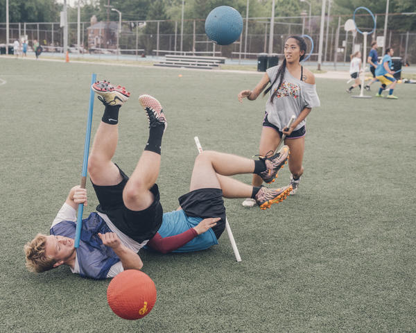 Quidditch matches can get rough, which is why when US Quidditch adapted rules for high school and middle school teams, it banned tackling.