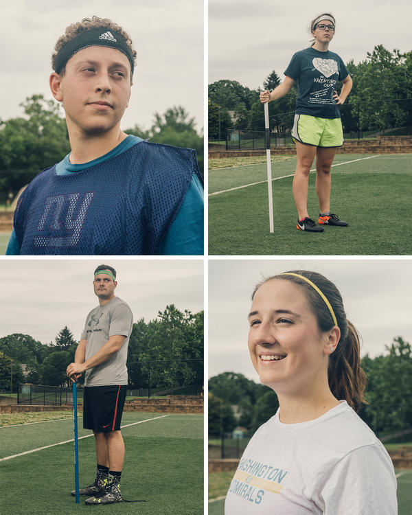 The Washington Admirals roster for this season includes Cody Nardone (clockwise from top left), Julia Rankin, Paige Bellamy and Patrick Rardin, who also serves as head coach.