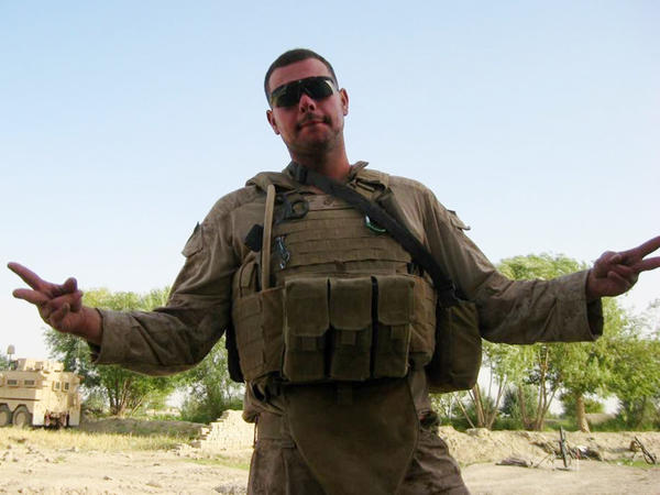 "George ""Mik"" Todd seen here in Helmand Province, Afghanistan, in July 2009. He served with Echo Company, 2nd Battalion, 8th Marines."