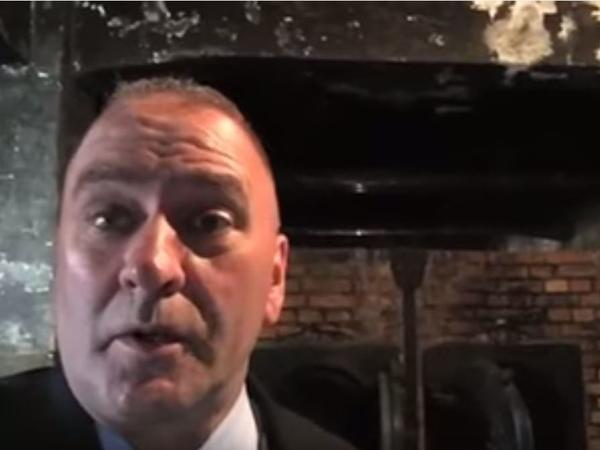 """""""It's hard to walk away from gas chambers and ovens without a sober feeling of commitment ... to make damn sure that the United States of America is protected from the evils of the world,"""" Rep. Clay Higgins said in the video filmed at Auschwitz."""