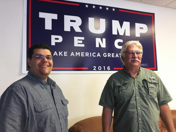 Leo Blundo (left) and Joe Burdzinski are officials with the Nye County Republican Central Committee.