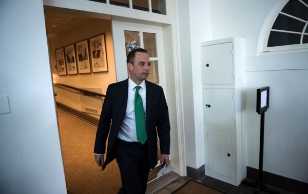Reince Priebus, seen in June, is out as President Trump's chief of staff. He will be replaced by Homeland Security Secretary John Kelly.