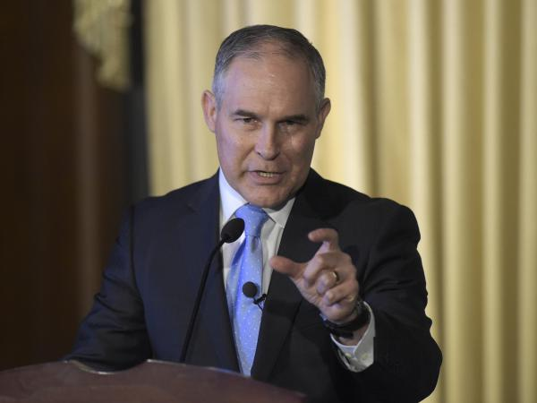 """""""We are moving forward with an open and robust review of emissions standards,"""" Environmental Protection Agency Administrator Scott Pruitt says."""