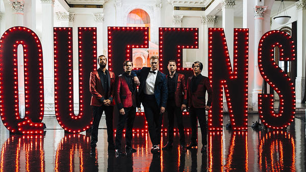 Queens of the Stone Age, led by Josh Homme (center). The band's new album <em>Villains</em> was released August 25.