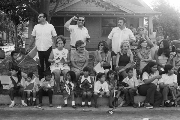 <em>La familia</em> at the Mexican Independence Day Parade, East L.A. September 16, 1970.