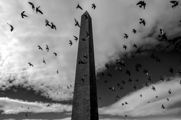 A view of the Washington Monument during the 2017 March For Life on Jan. 28. Thousands of people flocked to the National Mall for the anti-abortion rights rally, which has been an annual event for more than 40 years.