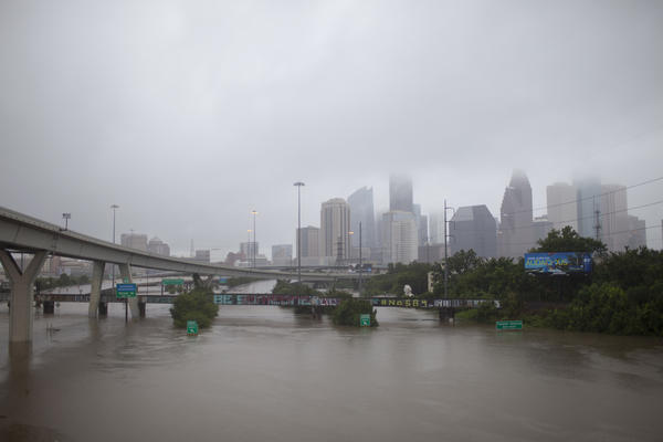 The National Weather Service said Sunday afternoon it expected up to 50 inches of rain in some areas of Houston.