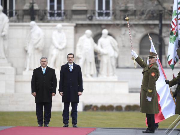 Polish Prime Minister Mateusz Morawiecki (right) chose in January to visit Hungary's leader Viktor Orbán for his first international trip after taking office.