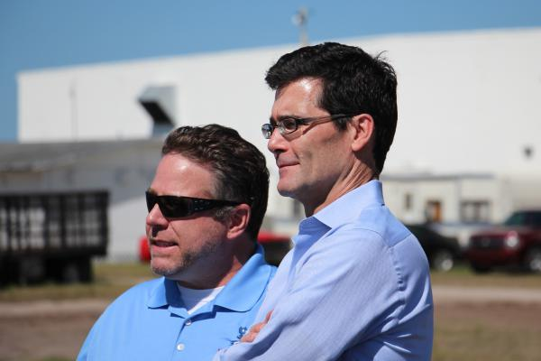 Bob Pitzer (left), who once worked for Intel, co-founded Harvest CROO Robotics. Paul Bissett (right) is the company's chief operating officer.