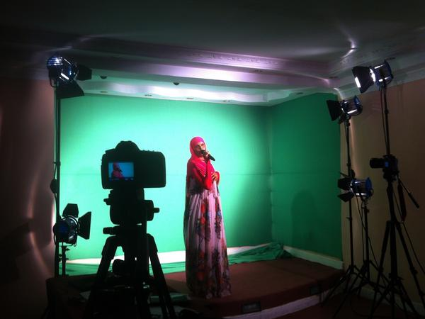 Xawo Abdi Hassan rehearses her song. Xawo did not win the competition but the show launched her career as a singer.